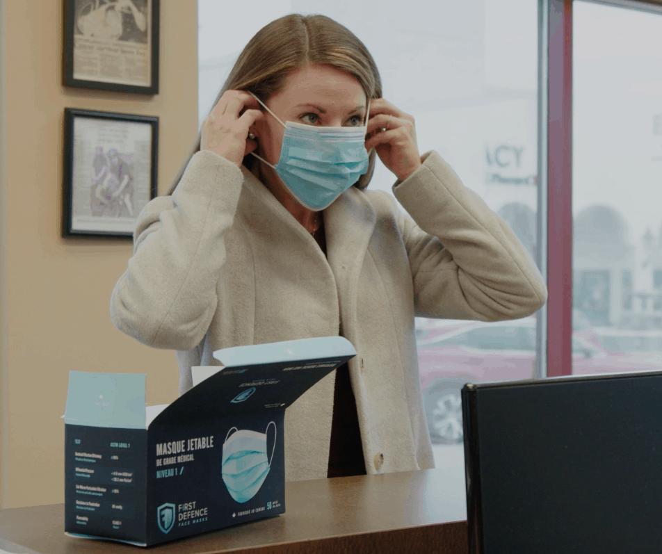 First Defence Face Masks | Calgary Manufacturing Facility | Canadian Made Medical Masks | Medical Masks made in Calgary Alberta
