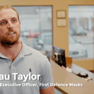 Beau Taylor CEO and Founder of First Defence Face Masks